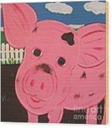 Oink Wood Print
