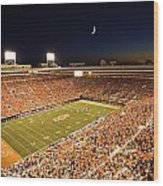 Oklahoma State Boone Pickens Stadium Under The Lights Wood Print by Oklahoma State University