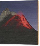 Ol Doinyo Lengai Eruption, Rift Valley Wood Print