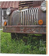 Old Abandoned Pickup Truck Wood Print