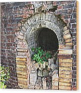 Old Antique Brick Kiln Fire Box Wood Print