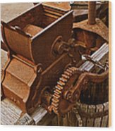 Old Apple Press 2 Wood Print