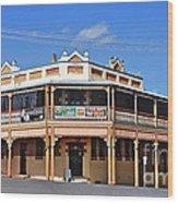 Old Aussie Pub Wood Print