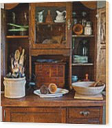 Old Bakers Cabinet Wood Print