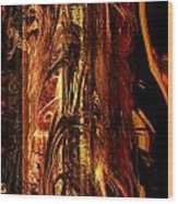 Old Bark Wood Print