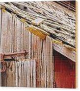 Old Barn Close Wood Print