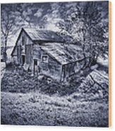 Old Barn Wood Print by Donald Schwartz