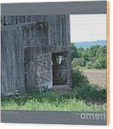 Old Barn Door-i Wood Print