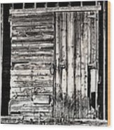 Old Barn Door Wood Print