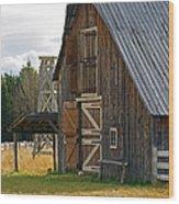Old Barn Doors Wood Print