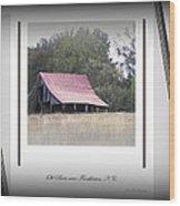 Old Barn - Edge Of The Field Wood Print