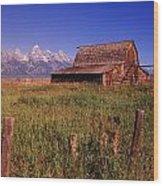 Old Barn, Grand Teton National Park Wood Print