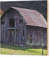 Old Barn In Etowah Wood Print