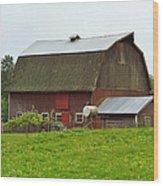 Old Barn On 264th. Street Wood Print