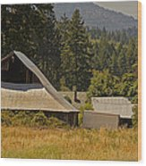 Old Barn On A Hot Summer Day In The Applegate Wood Print