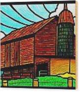 Old Barn On Keezletown Road Wood Print