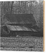 Old Barn Out Back Wood Print
