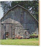 Old Barn South Of Brevard Wood Print