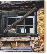 Old Barn Window 2 Wood Print