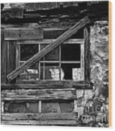 Old Barn Window Wood Print