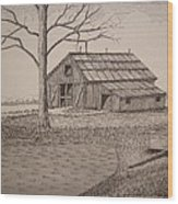 Old Barn2 Wood Print