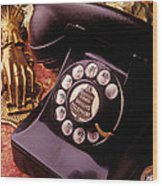 Old Bell Telephone Wood Print
