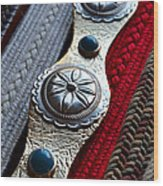 Old Belts Wood Print