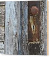 Old Blue Door 1 Wood Print
