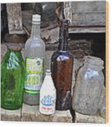 Old Bottle Wood Print