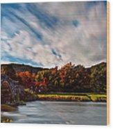 Old Bridge In The Fall Wood Print