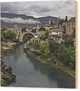 Old Bridge Of Mostar Wood Print by Ayhan Altun