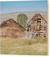 Old Building Woodruff Utah Wood Print