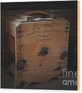 Old Butter Churn Wood Print