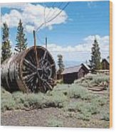 Old Cabin Mine Wood Print by Kirk Williams