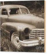 Old Caddy-sepia Wood Print
