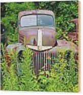 Old Car Grave Yard Wood Print