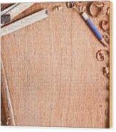 Old Carpentry Tools Wood Print