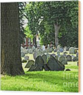 Old Cemetery In Boston Wood Print