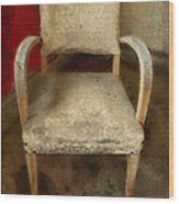 Old Chair Wood Print
