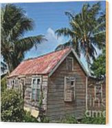 Old Chattel House 2 Wood Print
