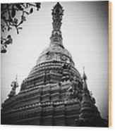 Old Chedi, Chiang Mai Wood Print by Robsteerphotopgraphy