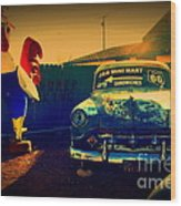 Old Chevrolet On Route 66 Wood Print