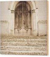 Old Church Door Wood Print