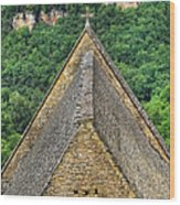Old Church View Dordogne France Wood Print