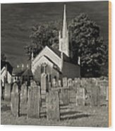 Old Church Yard Wood Print