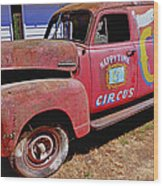 Old Circus Truck Wood Print