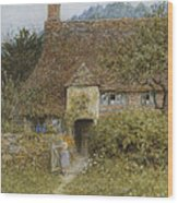 Old Cottage Witley Wood Print