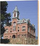 Old Courthouse Powhatten Wood Print