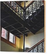 Old Courthouse Stairway Wood Print