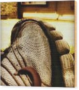 Old Dirty Sneaker Wood Print by Tony Ramos